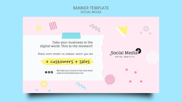 Modello di progettazione banner per agenzia di social media marketing