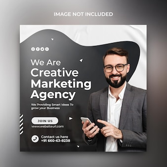 Social media marketing promozione aziendale webinar online modello di sfondo post sui social media