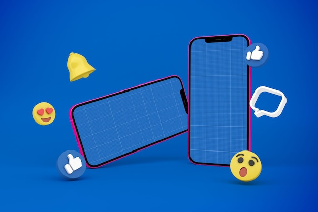 Social media e telefono v1 mockup