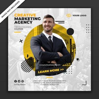 Modello di business banner post social media
