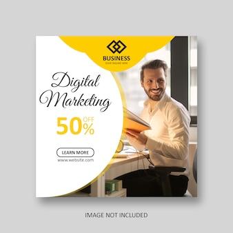 Banner di social media post marketing