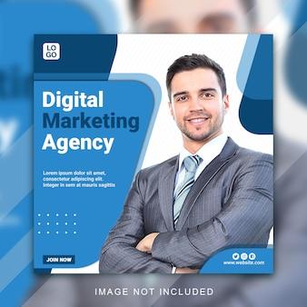 Modelli di pubblicazione sui social media agenzia di affari creativi Psd Premium
