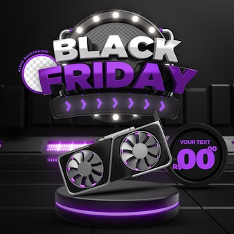 Social media purple black friday 50 off promozione instagram post template 3d render