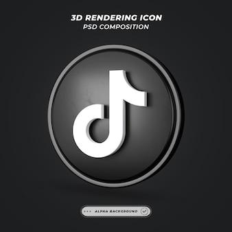 Icona di social media tiktok nel rendering 3d