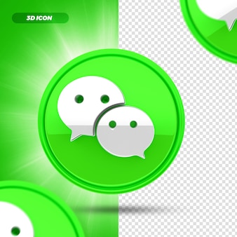 Social media chattiamo icona rendering 3d isolata