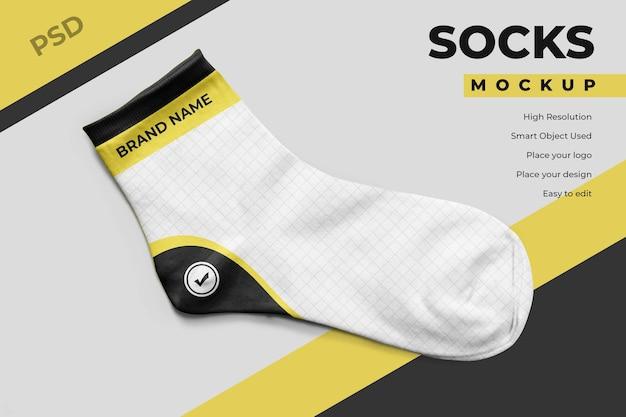 Design mockup di calzini