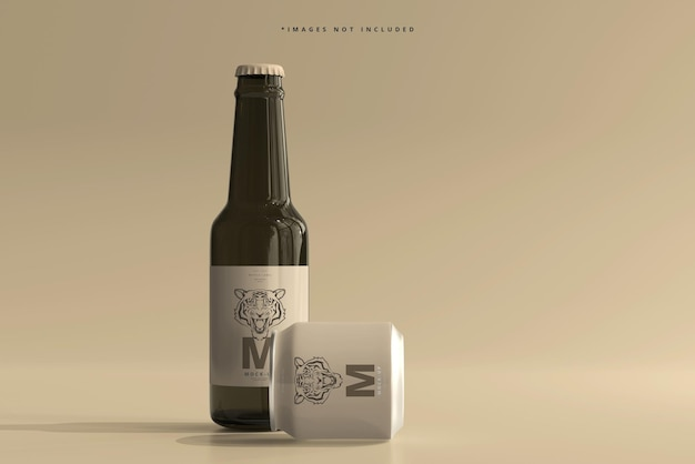 Mockup di lattina di soda o birra