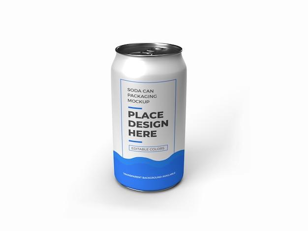 Lattina di soda packaging mockup isolato