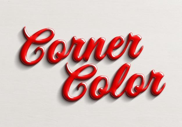 Effetto testo in stile soda coca cola