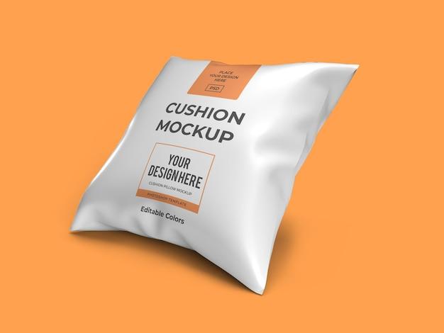 Modello di mockup del cuscino del cuscino del divano isolato