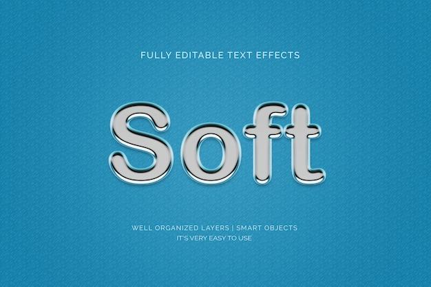 Morbido effetto di stile testo 3d