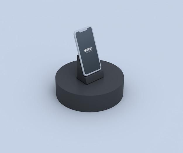 Mockup di schermo mobile morbido
