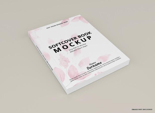 Mockup di copertina del libro con copertina morbida