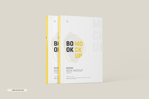 Mockup di copertine di libri con copertina morbida