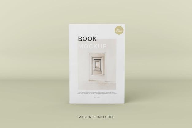 Vista frontale del mockup del libro con copertina morbida