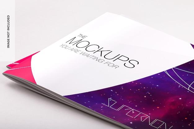 Mockup psd del catalogo orizzontale con copertina morbida