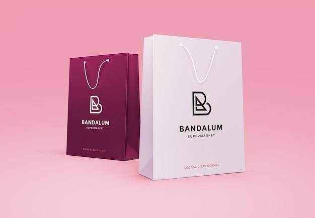 Design del mockup del marchio della borsa inzuppata