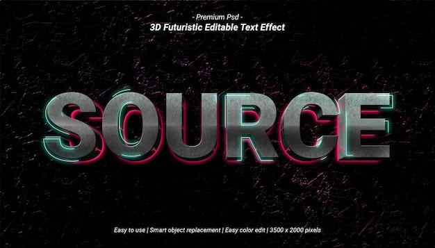 Modello effetto stile testo sorgente