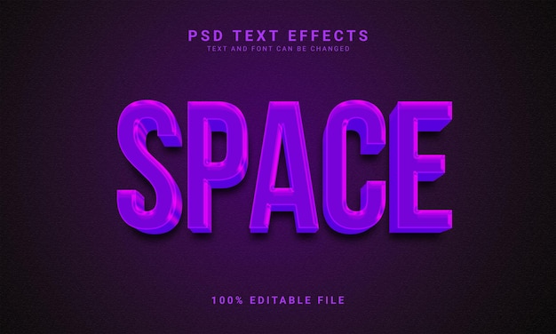 Spazio 3d effetto testo modificabile