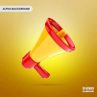 Altoparlante logo badge 3d render