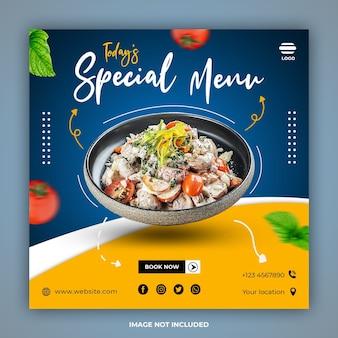 Modelli di banner post sui social media per alimenti speciali