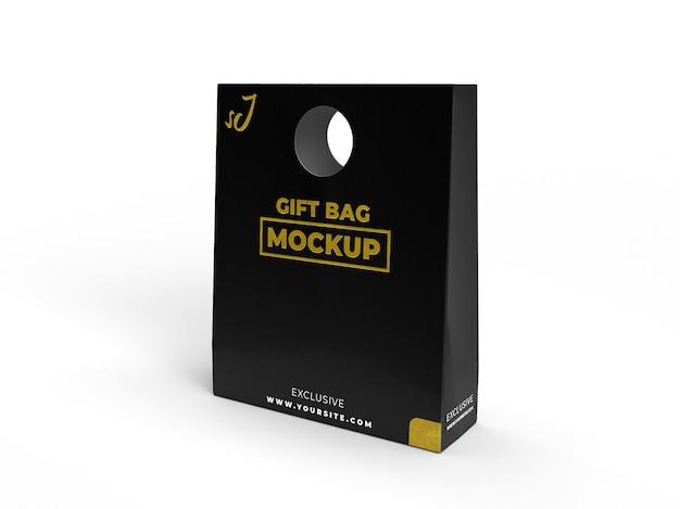 Borsa testurizzata realistica regalo speciale per il marchio e l'esposizione mockup