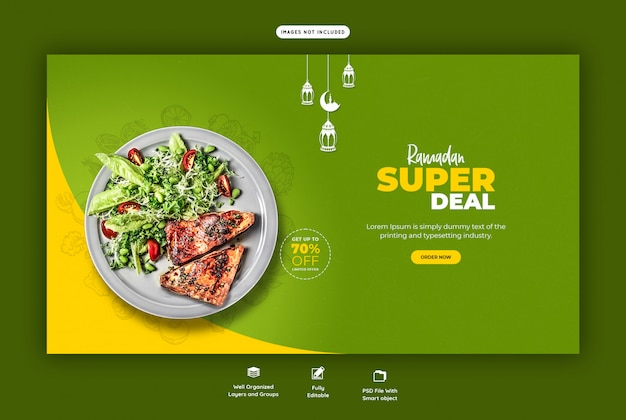 Modello di pagina di destinazione alimentare ramadan speciale