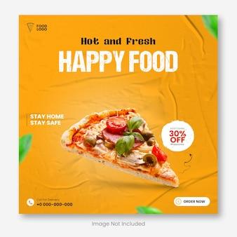 Design speciale per banner alimentari sui social media