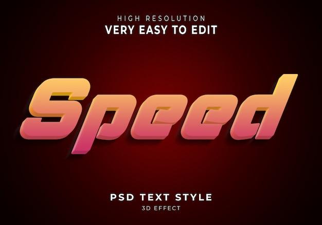 Velocità moderna effetto testo