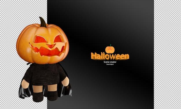 Bambola di zucca di halloween spettrale e carina cosplay giocattolo di zucca di halloween