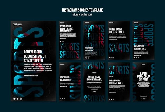 Modello di storie di instagram annuncio di sport