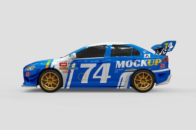 Progettazione di mockup di auto da corsa sportiva