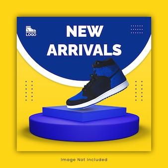Modello di post di instagram di scarpe da ginnastica sportive
