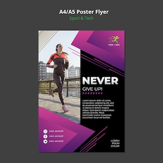 Mock-up poster concetto sport & tecnologia