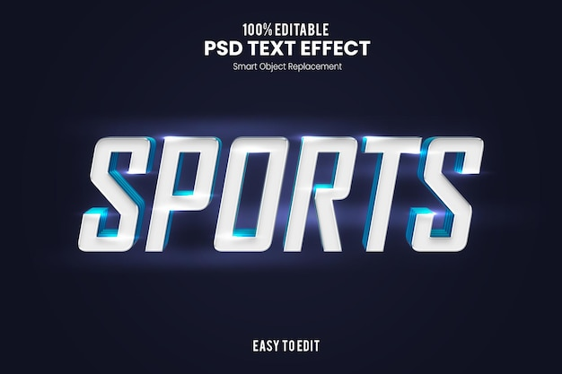 Modello effetto testo sportivo