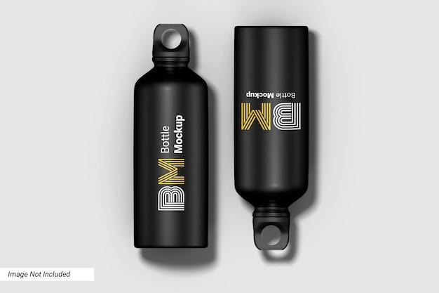 Mockup di bottiglia d'acqua sportiva
