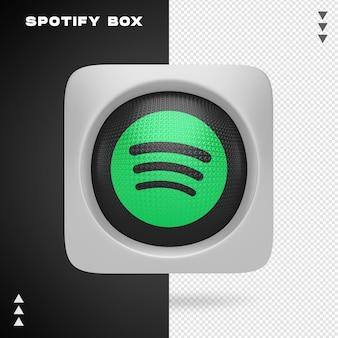 Spotify box nel rendering 3d isolato