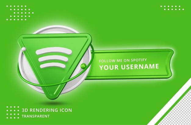 Icona del profilo spotify nel rendering 3d