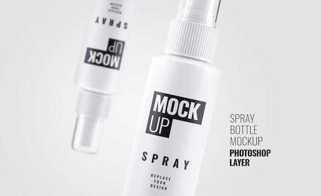 Bottiglia spray da vicino mockup
