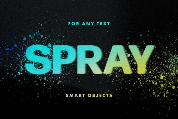 Effetto testo stencil spray Psd Premium