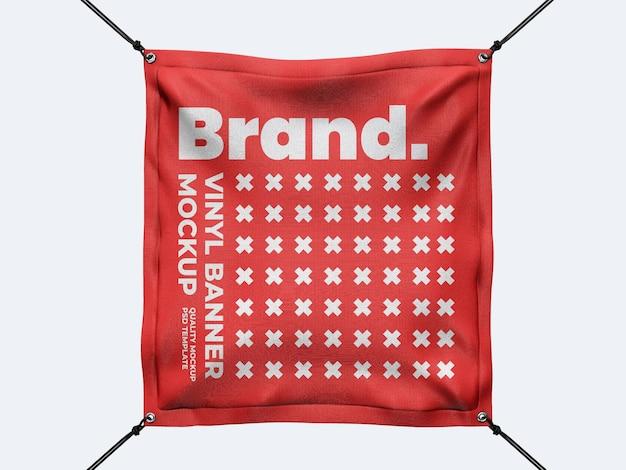 Modello di mockup di banner quadrato