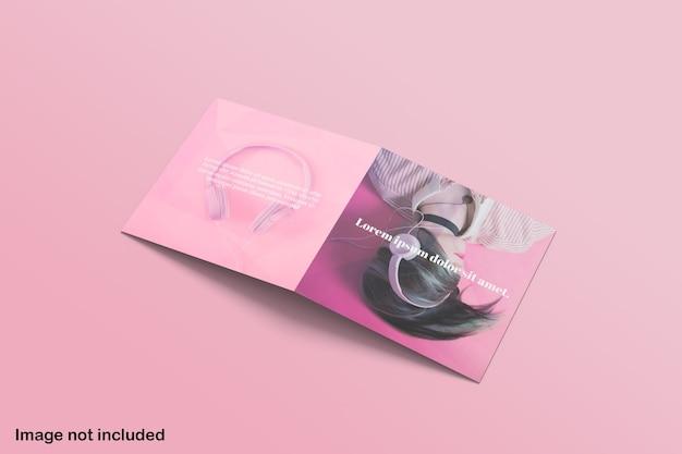 Mockup di brochure bifold quadrato