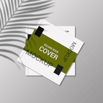 Design mockup copertina libro quadrato