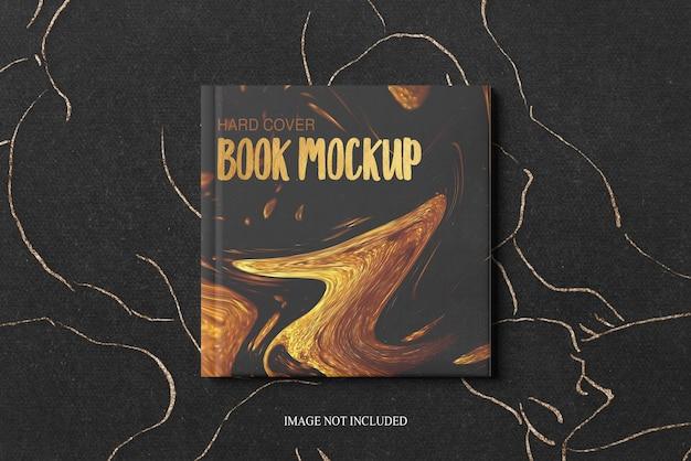 Mockup di copertina rigida del libro quadrato