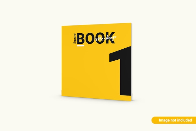Mockup di libro quadrato isolato
