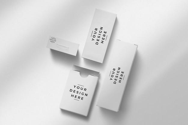 Mockup di imballaggio del marchio di scatola quadrata
