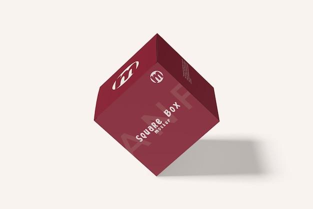 Design mockup scatola quadrata isolato