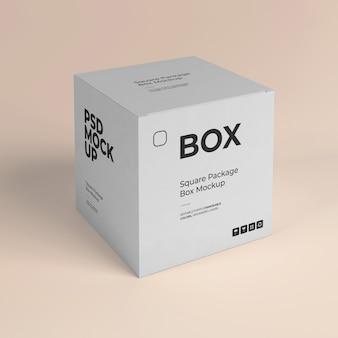 Mockup di scatola quadrata