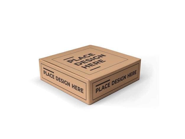 Scatola quadrata packaging design mockup isolato
