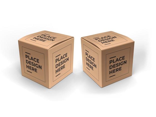 Mockup di imballaggio scatola quadrata Psd Premium